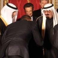 Bowing to Saudi King