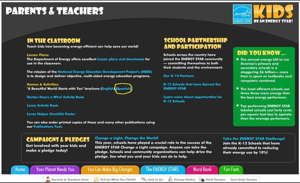 EnergyStar.gov Screenshot